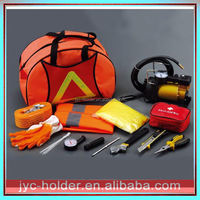 Pressure gauge tool kit ,YS0028 car emergency kit with hand tool bag