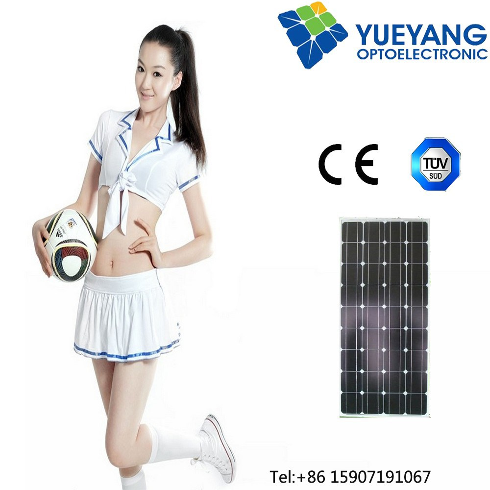 100W Wholesale monocrystalline solar modules/photovoltaic solar panel 12v battery kit