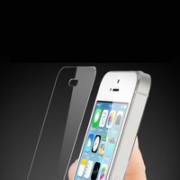 Anti scratch tempered glass screen protector cover film for iphone 5 with retail package, best quality and good price