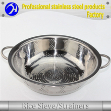 Eco-friendly Stainless Steel Vegetable Fruit Rice Colander / Drain Strainer Basket