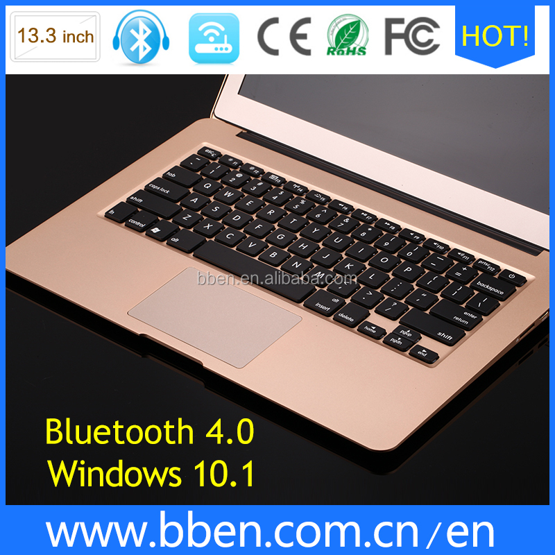 BBEN laptop 13.3inch windows dual core integrated card with micro HDMI