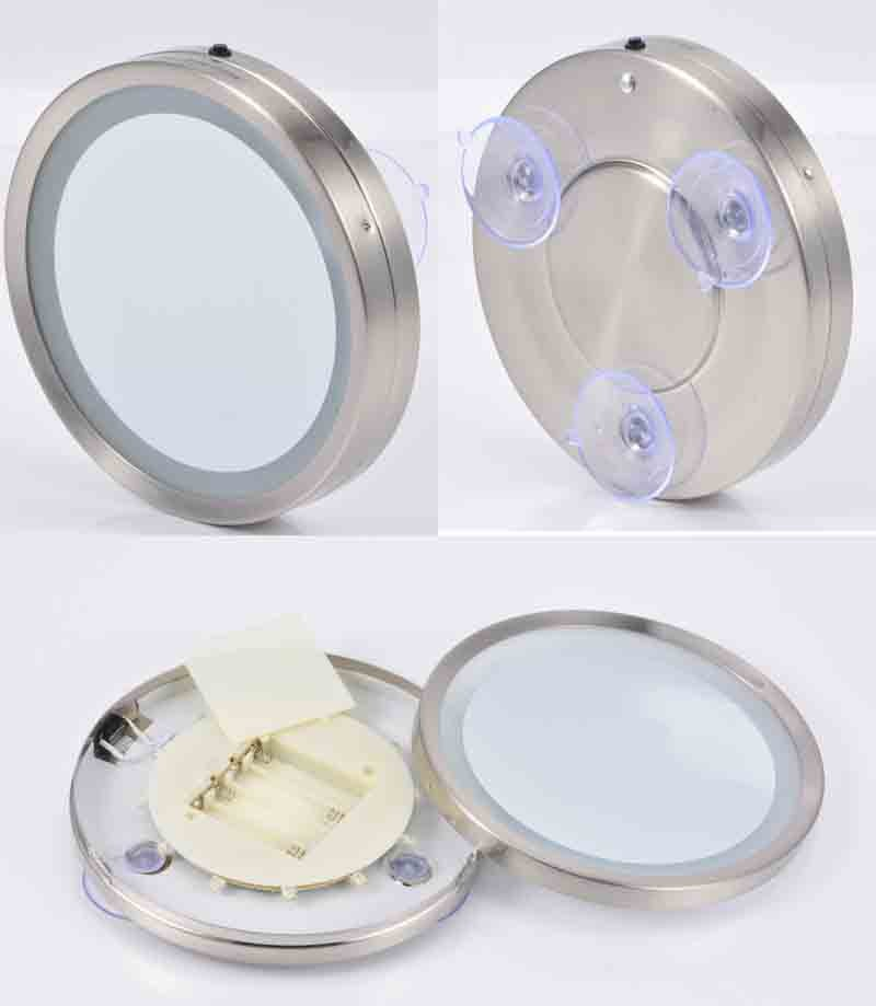 single side wall led suction cup mirrors