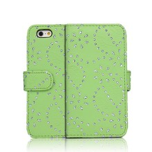 Leather Bling Bling Diamond Case For iPhone 6, Cover Phone For iPhone 6, Shining Rhinestone Case For iPhone 6