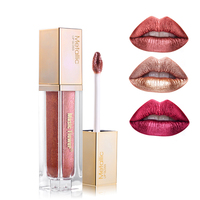 Music Flower Multi Colored Metallic Diamond Shine Liquid Lipstick Waterproof Glitter Lip Gloss