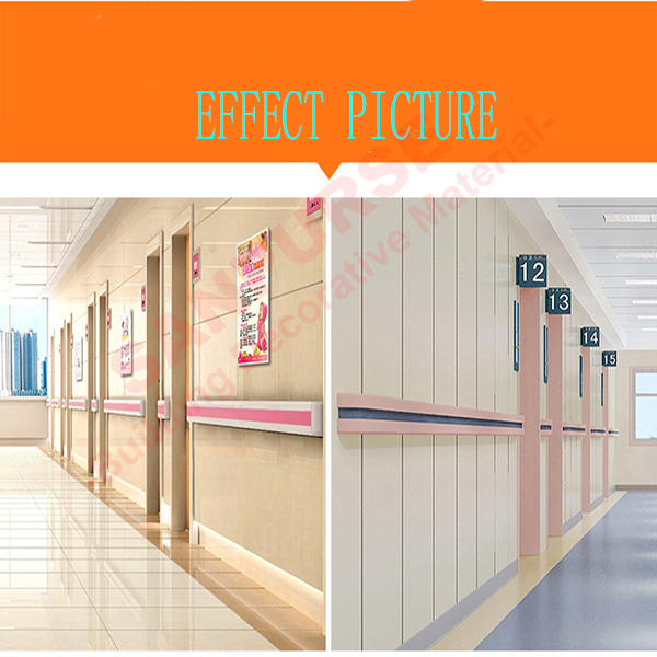 Low price Colorful PVC Wall Guard