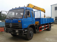 manufacturer sale 6.3ton rotating straight-arm hiab crane with truck sale in dubai