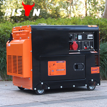 BISON China TaiZhou Air Cooled Low price soundproof diesel 6kw generation of electricity