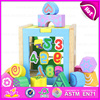 Kids Educational Wooden Blocks Shape Color Matching Toys,Children wooden matching block toy for learn numbers W12D030