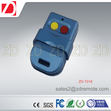 Colorful factory price rolling code super RF 433MHZ remote control duplicator for door opener ZD-T018