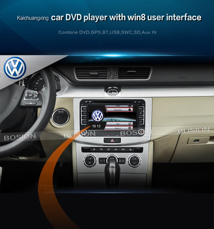 "China 7"" Original Interface UI Video Radio Car DVD GPS for VW RNS with Canbus Reversing Camera"