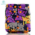 HappyFlute os Halloween & Christmas baby diaper nappy hemp aio cloth diaper adjustable baby diaper factory