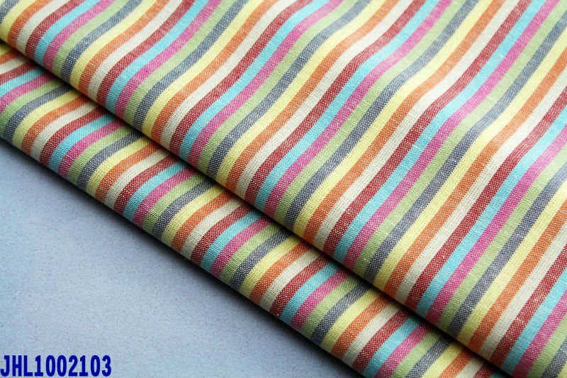 Shirting linen cotton yarn dyed fabric for Indian market