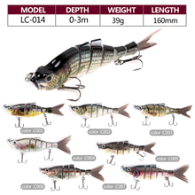 In stock 160mm 39g multi jointed hard fishing lure wholesale swimbaits