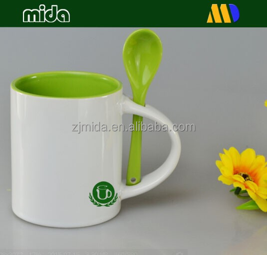 Inside green color mugs for sublimation wholesale