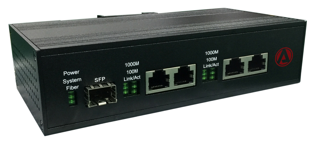 6 ports Full Gigabit Industrial Ethernet Switch with 2 1000Base-X SFP ports