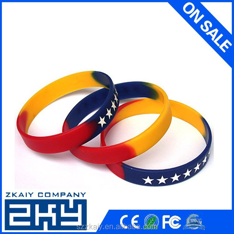Wholesale Mixed Colors Blank Silicone Wristbands, Rubber Bracelets