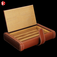 Factory best Brown travel cigar humidor/boxes/holeder,cigarette case for sale