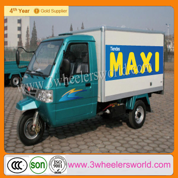 Motorcycle Delivery /Three Wheel Gas Motor Tricycle of Bajaj Style With Dump