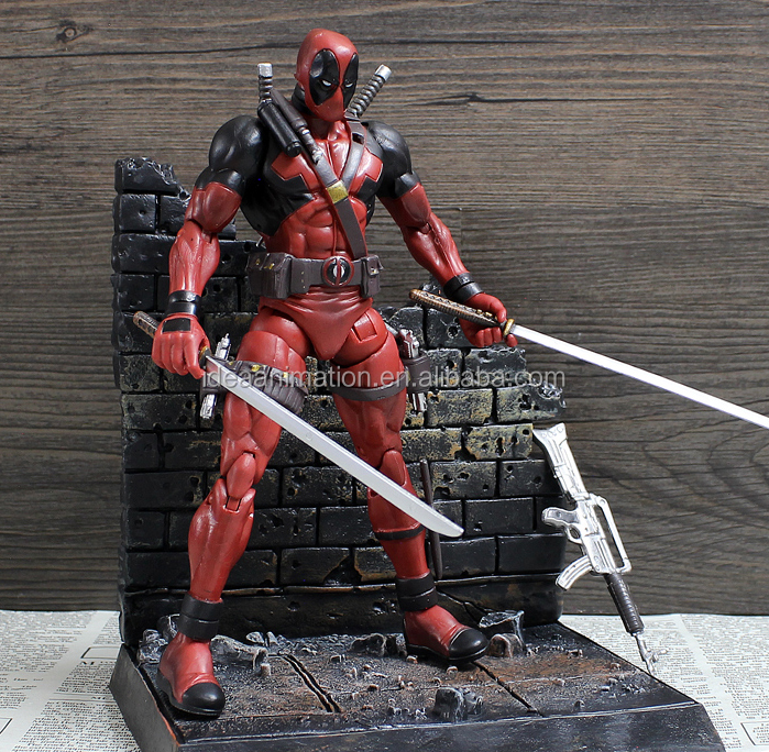 custom make your own movie character plastic movable deadpool action figure toys