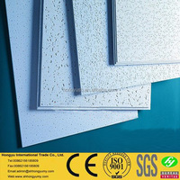 Light weight mineral fiber acoustical board suspended ceiling tiles