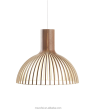 Bedroom Wooden Pendant Lighting Modern Designed Overhead Lamp for Coffee shop/Restaurant