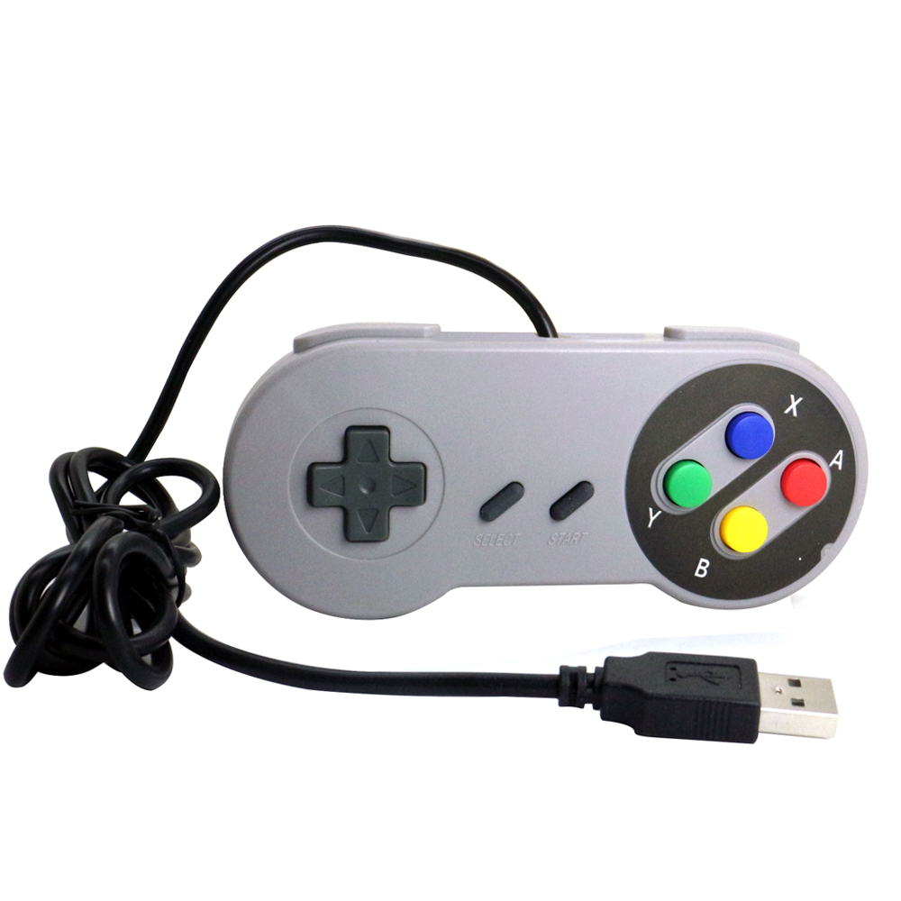 Classic PC Wired Controller Gamepad Joypad for SNES console,joypad controller snes