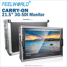 21.5 inch hd sdi monitor with IPS panel 1920x1080 carried on aluminium case