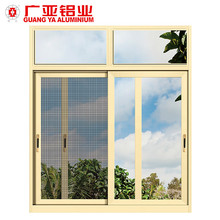Custom design home renovation aluminium windows with mosquito net