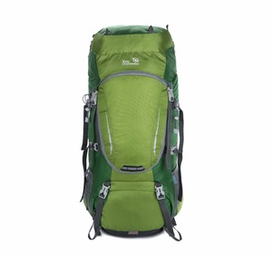 high quality hiking backpack 60L with waterproof backpack cover