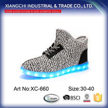 New Arrival High Top Adult Flashing Kids LED Shoes