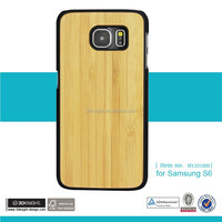 Wooden cell phone mobile case super thin Black PC phone Case for samsung universal real bamboo wood phone case