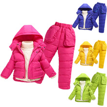 children's down wear suits baby thicken suits