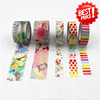 Multi patterns Japanese washy tape wholesale custom printed washy tape
