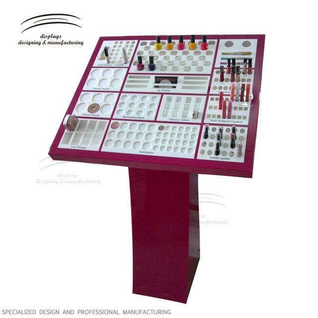 Weitu acrylic makeup floor cosmetic display stand acrylic makeup display stand