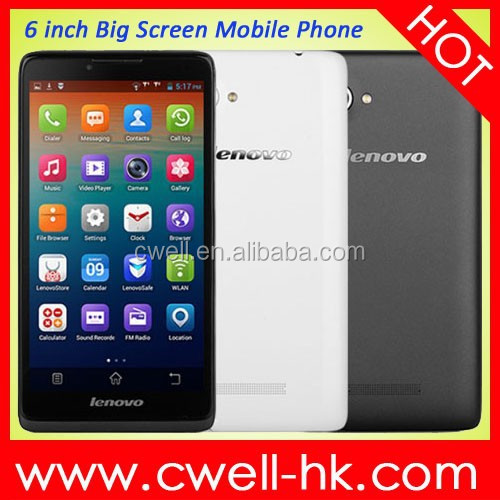 2015 New Lenovo A889 lenovo phone Quad Core MTK6582 1GB RAM 8GB ROM 8MP Camera Dual Sim Card 3G Android 4.2 6 inch Tablet Phone