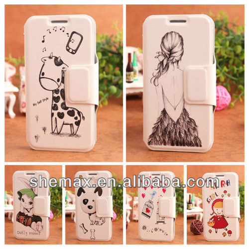 Flip Book Leather Bag for Galaxy S4 Mini For samsung i9190,for samsung i9190 galaxy s4 mini android phone case