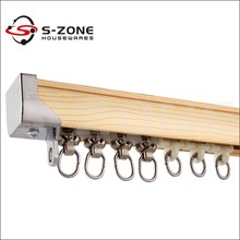 S-ZONE Curtain decor series aluminum sliding straight track curtains