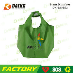 Custom High Quality Eco Reusable Polyester personalized design shopping bagDK-DN653