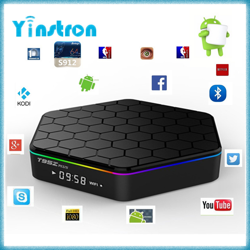 Factory support T95Z plus Amlogic S912 Octa Core Android 6.0 2G 16G 4K smart tv set top box