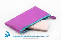 Light purple jelly mobile phone card wallet pouches