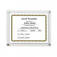 clear certificate frame /acrylic certificate photo frame