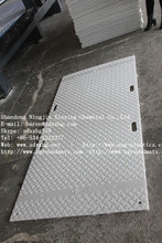 4550x2050mm Street protection plates/black hdpe plastic temporary ground track/roadway mats