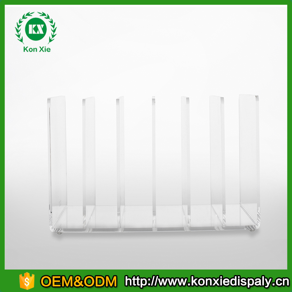 clear acrylic desktop file sorter holder