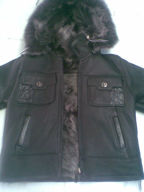 leather kids fur mont