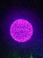 Large Outdoor Christmas Lighted Ornamental Balls