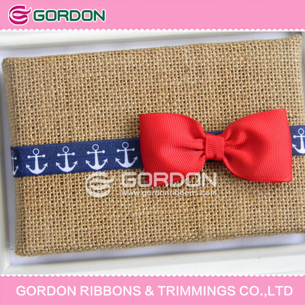 ribbon bow making machine eco-friendly pre-tied ribbon bows with elastic band