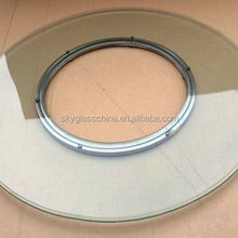 Oval/round 6mm~12mm clear premium Tempered Glass Dining Table Supplier for sale