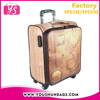 Low MOQ European style Small size PU leather sky suitcase luggage