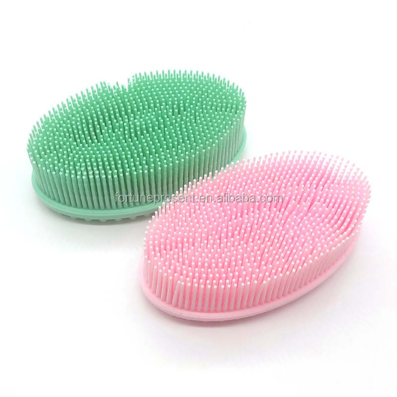 Hot selling 100% silicone cleaning brush for face and body , soft silicone bath brush for children and adult