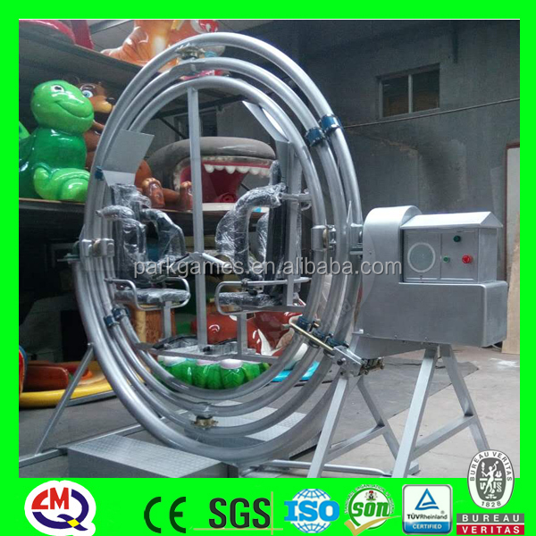 Thrilling amusement 2 seats rotating orbitron ride human gyroscope for sale